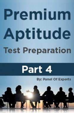 Premium Aptitude Test Preparation Part 4