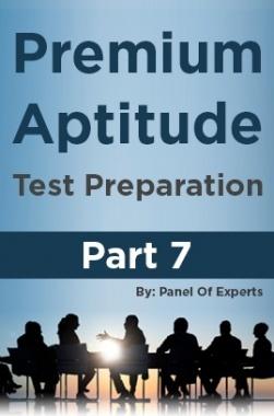 Premium Aptitude Test Preparation Part 7
