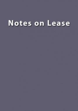 Notes on Lease