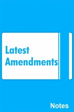 Latest Amendments