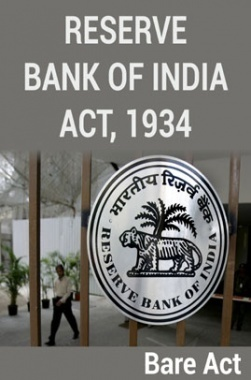 Reserve Bank of India Act, 1934 Notes