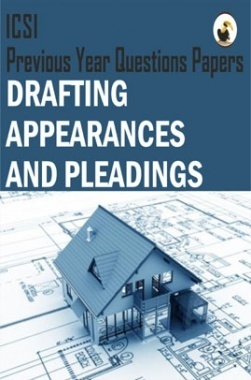ICSI Drafting Appearances and Pleadings Question Paper
