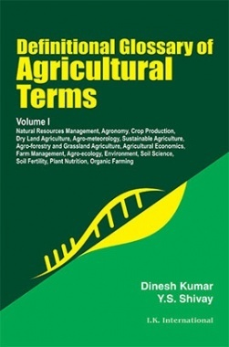 Definitional Glossary of Agricultural Terms Volume I