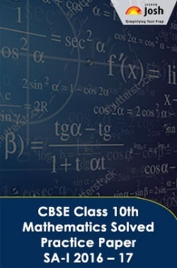 CBSE Class 10th Mathematics Solved Practice Paper SA- I (2016-17)
