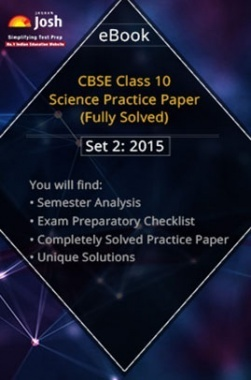 CBSE Class 10th Solved Science Practice Paper 2015 (Set-II)