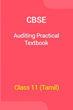 CBSE Auditing Practical  Textbook For Class 11 (Tamil)