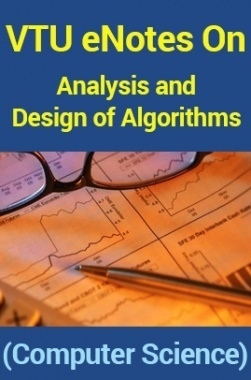 VTU eNotes On Analysis and Design of Algorithms (Computer Science)