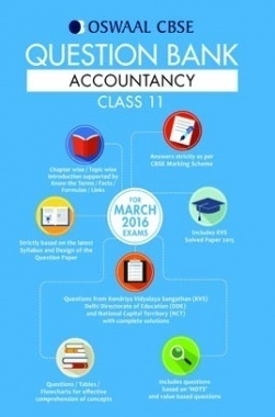 Oswaal CBSE Question Bank chapter-wise solutions For Class 11 Accountancy