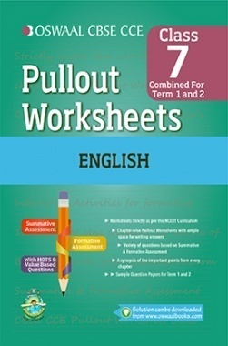 Oswaal CBSE CCE Pullout Worksheets English For Class 7 (Term 1 And 2)