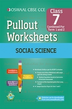 Oswaal CBSE CCE Pullout Worksheets Social Science For Class 7 (Term 1 And 2)