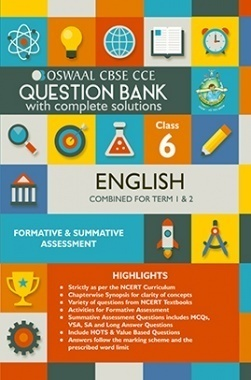 Oswaal CBSE CCE Question Bank With Complete Solutions For Class 6 English (Term 1 And 2)