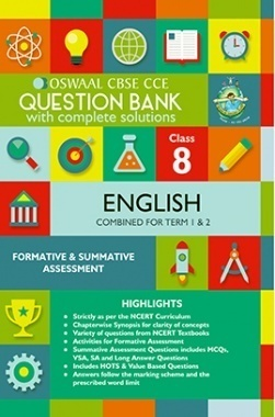 Oswaal CBSE CCE Question Bank With Complete Solutions For Class 8 English (Term 1 And 2)