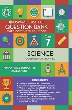 Oswaal CBSE CCE Question Bank With Complete Solutions For Class 7 Science (Term 1 And 2)