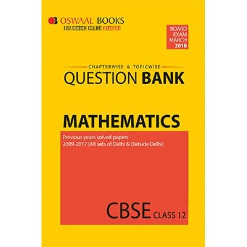 Mathematics part 1 u p board textbooks class 12th by dr ram dev oswaal cbse chapterwise and topicwise question bank for class 12 mathematics for march 2018 exam fandeluxe Gallery