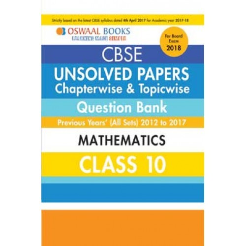 Oswaal unsolved paper question bank class 10 mathematics march oswaal unsolved paper question bank class 10 mathematics march 2018 exam fandeluxe Image collections