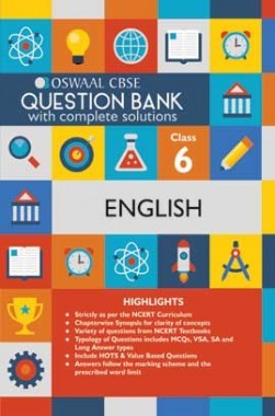 Oswaal CBSE Question Banks English For Class 6