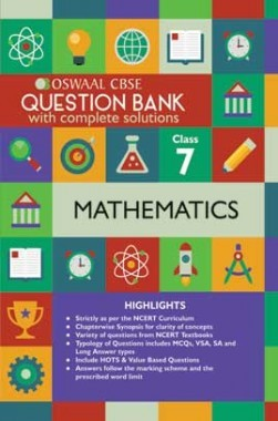 Oswaal CBSE Question Banks Mathemaitcs For Class 7