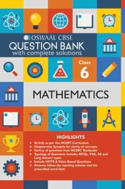 Oswaal CBSE Question Banks Mathemaitcs For Class 6