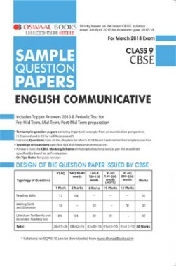 Oswaal CBSE Sample Question Papers Class IX English Communicative (Mar. 2018 Exam)