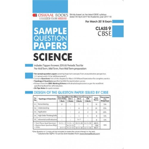 Oswaal cbse sample question papers class ix science mar 2018 oswaal cbse sample question papers class ix science mar 2018 exam fandeluxe Image collections