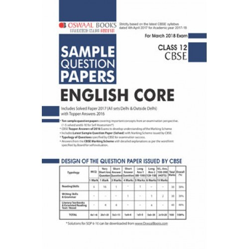 Oswaal cbse sample question papers for class xii english core mar oswaal cbse sample question papers for class xii english core mar 2018 exam fandeluxe Image collections