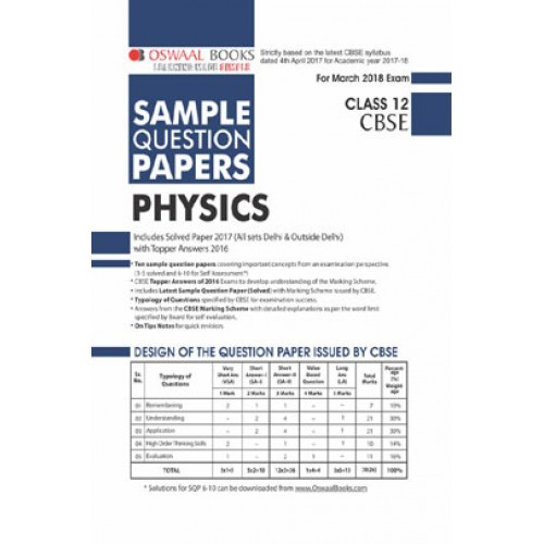 Oswaal cbse sample question papers for class xii physics mar oswaal cbse sample question papers for class xii physics mar 2018 exam fandeluxe Image collections