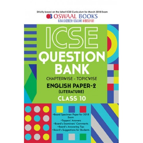 Oswaal icse question bank chapterwise topicwise english literature oswaal icse question bank chapterwise topicwise english literature ii for class x march 2018 exam fandeluxe Choice Image