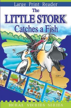 The Little Stork Catches A Fish