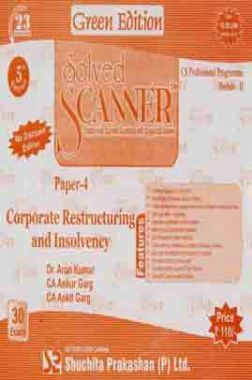 Solved Scanner CS Professional Programme Corporate Restructuring and Insolvency Paper-4 Dec 2013