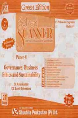 Solved Scanner CS Professional Programme Governance Business Ethics and Sustainability Paper-8 Dec 2013