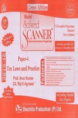 Solved Scanner CSEP Module-I Tax Laws & Practice Paper 4 Dec 2014