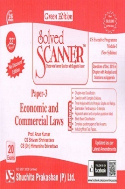 Solved Scanner CS Executive Programme Module-I New Syllabus Paper-3 Economic and Commercial Laws (Dec-2015)