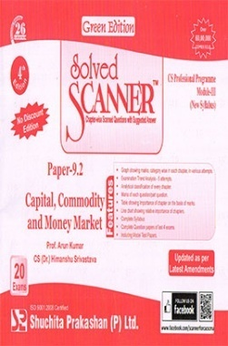 Solved Scanner CS Professional Programme Module-III Paper-9.2 Capital, Commodity and Money Market (New Syllabus) Green Edition (Dec-2015)
