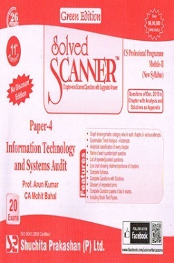 Solved Scanner CS Professional Programme Module-II New Syllabus Paper-4 Information Technology and Systems Audit Green Edition (Dec-2015)