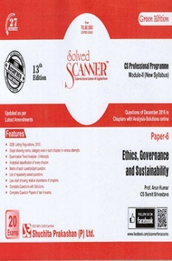 Solved Scanner CS Professional Programme Module-II New Syllabus Paper-6 Ethics, Governance and