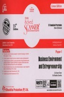 Shuchita Prakashan Solved Scanner CS Foundation Programme Business Environment And Entrepreneurship Paper-1 (New Syllabus) For Dec 2017 Exam
