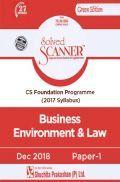 Shuchita Prakashan Model Solved Scanner CS Foundation Programme Business Environment And Law Paper-1 (2017 Syllabus ) For Dec 2018 Exam