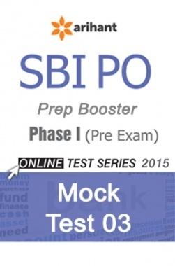 SBI Bank PO Mock Test 3