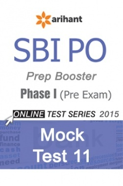 SBI Bank PO Mock Test 11