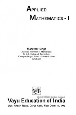 Applied Mathematics-I By Mahaveer Singh