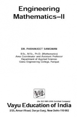 Engineering Mathematics-II By Dr. Paramjeet Sangwan