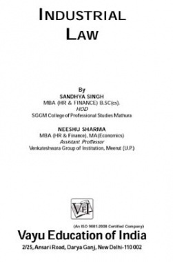 Industrial Law By Sandhya Singh, Neeshu Sharma