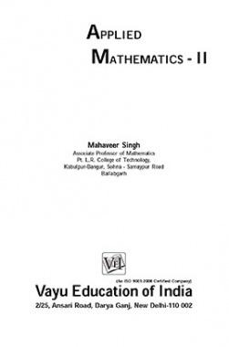 Applied Mathematics-II By Mahaveer Singh