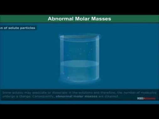 Class 12 Chemistry - Abnormal Molar Masses Video by MBD Publishers