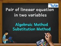Pair Of Linear Equations In Two Variables - Algebraic Method - Substitution Method Video By Lets Tute
