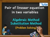 Pair Of Linear Equations In Two Variables - Algebraic Method - Substitution Method - PS Video By Lets Tute