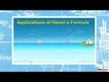 Class 9 Maths - Application Of Herons Formula Video by MBD Publishers