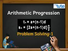 Class 10 Mathematics - Arithmetic progression Problem Solving Tn Video by Lets Tute