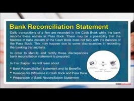 Class 11 Accounts - Bank Reconciliation Statement Video by MBD Publishers