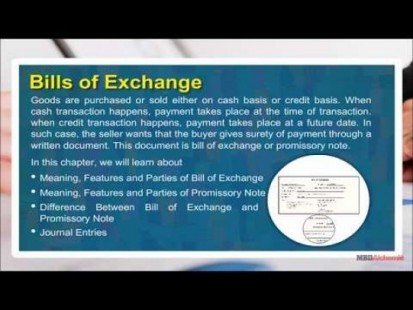 Class 11 Accounts - Bill Of Exchange Video by MBD Publishers
